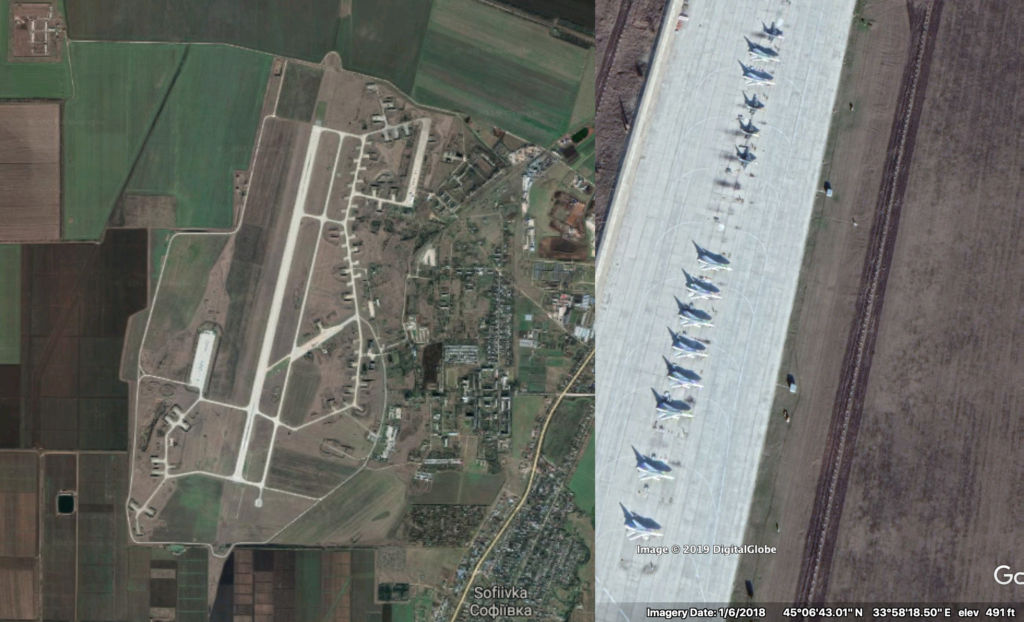 Gvardeiskyy airbase, January 2018
